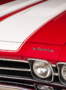 Red Chevy Chevelle Prints - El Camino 03 Print by Rick Piper Photography