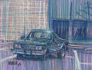 Chevy Drawings - El Camino One by Donald Maier