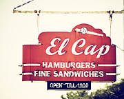 Hamburgers Prints - El Cap Restaurant Sign in St. Petersburg Florida Print by Lisa Russo