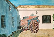 Cortijo Prints - El carro Print by Asuncion Purnell