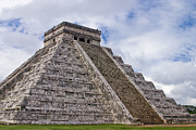 Temple Photo Framed Prints - El Castillo Framed Print by Adam Romanowicz