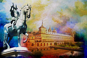 Aragon Prints - El Escorial Monastry Print by Catf