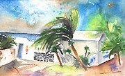 Lanzarote Paintings - El Golfo in Lanzarote 02 by Miki De Goodaboom