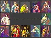 St John The Evangelist Digital Art Prints - El Grecos Apostles of Christ Print by Barbara Griffin