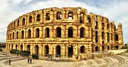 El Jem Colosseum Print by Rain Bow
