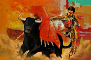 Bull Riding Paintings - El Matador by Corporate Art Task Force