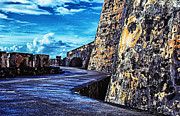 Thomas R. Fletcher Digital Art Prints - El Morro Fortress Old San Juan Print by Thomas R Fletcher
