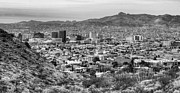 Desert Prints - El Paso in Black and White Print by JC Findley