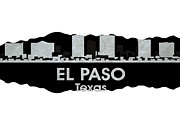 Uptown Mixed Media Posters - El Paso TX 4 Poster by Angelina Vick