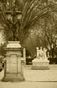Historic Statue Digital Art Prints - El Prado Madrid Print by James Brunker