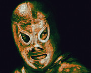 Laughing Digital Art Prints - El Santo The Masked Wrestler 20130218 Print by Wingsdomain Art and Photography