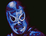 Laughing Digital Art Prints - El Santo The Masked Wrestler 20130218m168 Print by Wingsdomain Art and Photography