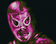 Wrestler Prints - El Santo The Masked Wrestler 20130218m68 Print by Wingsdomain Art and Photography