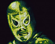 Wrestler Prints - El Santo The Masked Wrestler 20130218p39 Print by Wingsdomain Art and Photography
