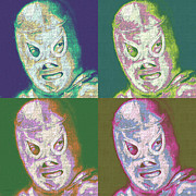 Wrestle Prints - El Santo The Masked Wrestler Four 20130218 Print by Wingsdomain Art and Photography