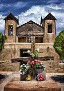 The Wooden Cross Prints - El Santuario de Chimayo #1 Print by Nikolyn McDonald