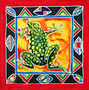 Square Tapestries - Textiles Prints - El Sapo Print by Lee Vanderwalker