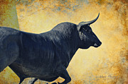 Horns Digital Art Posters - El Toro  Poster by Mary Machare