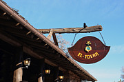 Rustic Photo Metal Prints - El Tovar Historic Hotel Sign in Grand Canyon Village Metal Print by Shawn OBrien