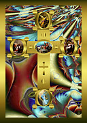 Robert Kernodle Posters - Elaborate Christian Cross Poster by Robert G Kernodle