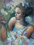Young Woman Pastels - Elahs Ballet by Tonja  Sell