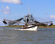Trawler Metal Prints - Elain Marie headed to Port Metal Print by Nancy Sullins