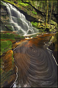 Waterfall Photo Prints - Elakala Swirls Print by Joseph Rossbach