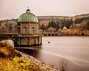 Reservoir Pyrography Prints - Elan Valley Print by Colin Nicholls