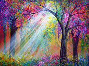 Kinkade Painting Prints - Elation Print by Ann Marie Bone