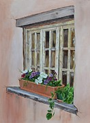 Mary Rogers Prints - Elayne Look Through the Window Print by Mary Rogers