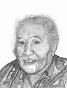 Elderly Drawings - Elderly Marshallese 4 by Lew Davis