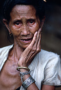 Carl Purcell - Elderly Woan in Laos