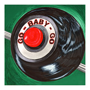 Wheel Framed Prints Posters - Eleanor GO BABY GO Poster by Jack Pumphrey