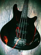 Musician Posters - Electric Bass - In The Studio Poster by Brian Howard