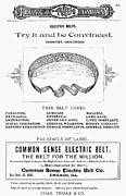 Common Sense Posters - Electric Belt Ad Poster by Granger