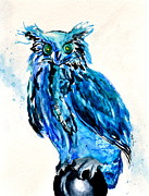 Fairies Originals - Electric Blue Owl by Beverley Harper Tinsley