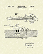 1939 Drawings Posters - Electric Guitar 1939 Patent Art Poster by Prior Art Design