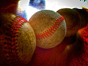 Baseball Seams Photo Metal Prints - Electric Seams  Metal Print by Bill Owen