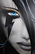 Faces Painting Prints - Electric Sin Print by Christian Chapman Art