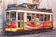 Graca Posters - Electric Trolly of Lisbon Poster by David Letts