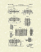1951 Drawings - Electrical Circuit 1951 Patent Art by Prior Art Design