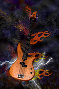 Strings Digital Art Posters - Electrical Fire Poster by Suzanne Barber