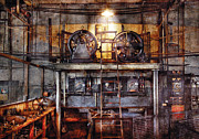 Motors Metal Prints - Electrician - Turbine Station Metal Print by Mike Savad