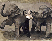 Photographs Painting Originals - Elegance and Elephants by Billie Colson