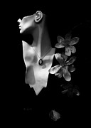 Flower Profile. Posters - Elegance Poster by Bob Orsillo