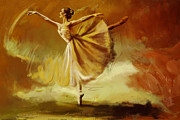 Ballet Art Painting Prints - Elegance  Print by Corporate Art Task Force