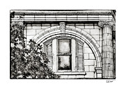 Brenda Bryant Framed Prints - Elegance in the French Quarter in Black and White Framed Print by Brenda Bryant