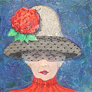 Netting Mixed Media - Elegance Is Her Middle Name by Freddie Lieberman