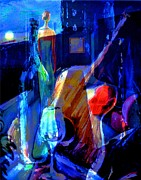 Wine Glass Paintings - Elegant Curves  by Frederick   Luff  Gallery
