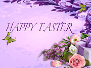 Elegant Easter Card Print by Debra     Vatalaro